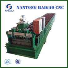 Hoja de metal corrugado máquina usada / hoja de material de construcción galvanizada