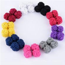 Nouveau fabricant de boutons de manchette en tricot de soie