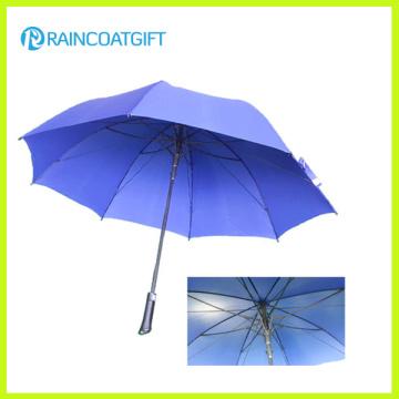 Parapluie extérieur droit en aluminium coupe-vent promotionnel