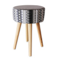 light grey wood stools