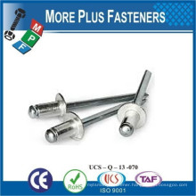 Made In Taiwan Aluminum Large Flange Stainless Steel Pop Rivets Domed Open Head Countersunk Aluminum Pop Rivets