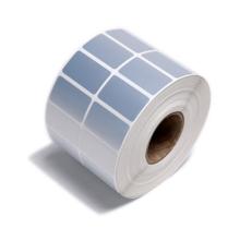 NX71 Waterproof matte silver blank PET/PVC adhesive barcode sticker paper for printer label