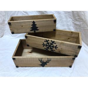 Rectangular Solid Wood Decoration Basket