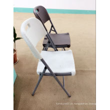 Cadeira de dobramento barata barata, cadeira de vime branco, cadeira plástica de plástico HDPE com design de rotinas