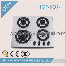 Las estufas de gas mecanografían el material barato de la superficie del acero inoxidable