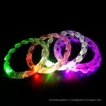 красочный свет до мигающий светодиодный браслеты