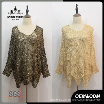 Women Oversized Asymmetric Hem Sweater
