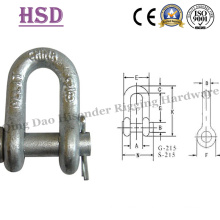Us Type Forged G2150 D Shackle with Safety Pin