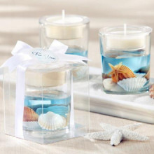 Seashell Gel candle Holder with soy wax
