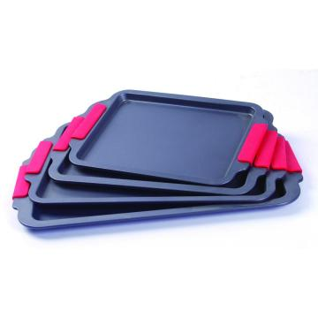 Silicone grip cookie sheet