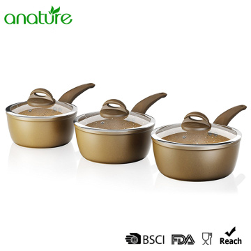 Forged Marble Stone Non Stick Sauce Pan Set