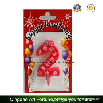Venta caliente cumpleaños fiesta torta vela forma número