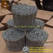 Fil enduit de double de boucle recuit noir galvanisé par PVC de galvanisation
