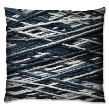 Dark colour wool  coil style cushion