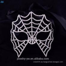 Máscaras cristalinas al por mayor de la mascarada del partido, máscara asustadiza de Halloween de la tela de araña