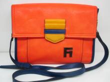 2014 Newest Fashion And Simple Orange PU Handbag Shoulder Bag For Ladies