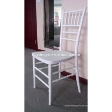 PP Stahl Stapelung Weiß Harz Chiavari Stuhl mit Kissen