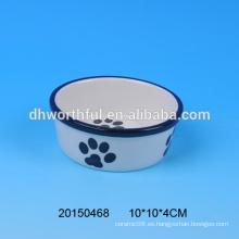 2016 tazón de fuente de cerámica del alimento del animal doméstico del nuevo estilo para la venta al por mayor