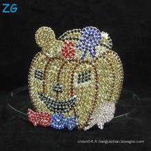Mignon Smile Pumpkin Metal Crown, Custom Tiara