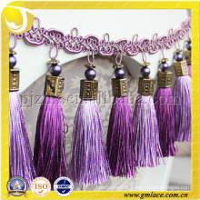 European Style Luxury Pink Mauve Trim Fringe For Curtain Tassel Cushion Cover