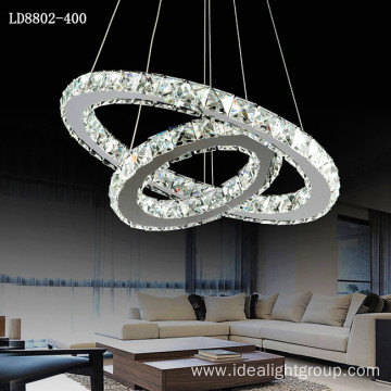 led modern chandeliers multi crystal pendant light