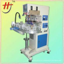 Hengjin pad impressora máquina, pneumática 3 cores elétrica pad impressora máquina com plataforma giratória de HP-160CZ