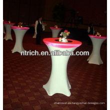 alta barra paño de tabla de coctel para boda