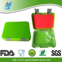 रंगीन खाद्य कंटेनर 4 डिब्बों bento लंच बॉक्स बच्चों bento खाने का डिब्बा