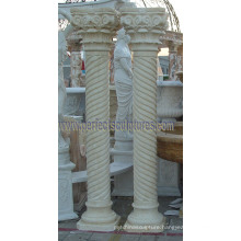 Decorative Roman Pillar with Stone Marble Granite Sandstone (QCM137)