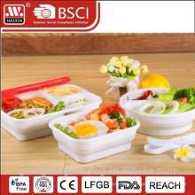 Square Food Container, Plastic Houseware (0.9L)