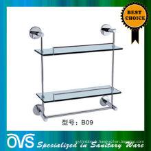 Foshan étagère en verre de salle de bains soutient la broche B09