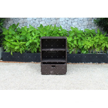 RACA-002 Mais vendido novo poli Rattan Resistente a intempéries, banheiro, armário de cozinha