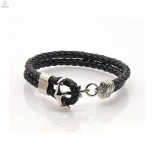 Hot Selling Anchor Bracelet Customized Leather&Stainless Steel
