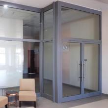 Lingyin Construction Materials Ltd Cadres de porte en aluminium Porte battante design avec fenêtre en verre fixe