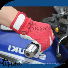 SRSAFETY High quality pig grain leather glove motocycle