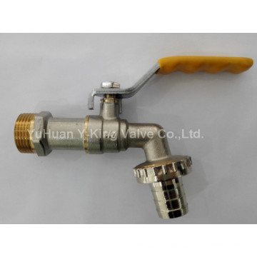 Brass Ball Bibcock with Wave Handle (YD-2006-1)