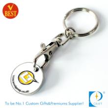 Custom Supmarket Trolley Münze Token Schlüsselring für Verkauf (JN-0232)