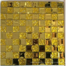 Gold Mosaic Tile Diamond Mirror Mosaic (HD069)
