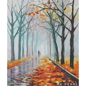 Стеклянная мозаика Плитка поэтический пейзаж маслом росписи