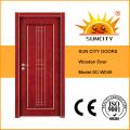 Одноместная спальня интерьер из Тикового дерева дизайн двери (СК-W049)