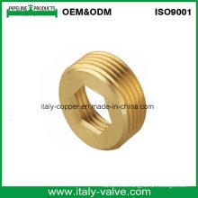 Tuerca hexagonal de cobre amarillo de la calidad modificada para requisitos particulares certificada CE (AV-BF-7039)