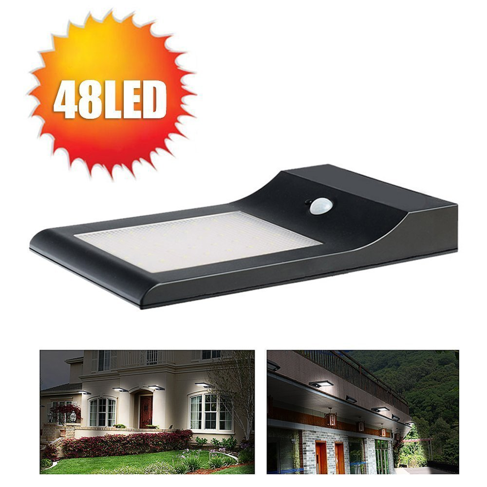 PIR Security Motion Sensor Wireless Luz de movimiento solar