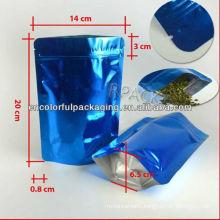 aluminum foil bag with zipper/aluminum foil plastic bag/aluminum foil poly bag