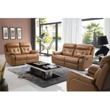 Sofá de salón con sofá moderno de cuero genuino (794)