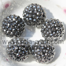 Newest Lead Black 18*20MM Rhinestone Beads For Kids Necklace Making