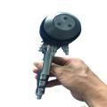three nozzle  head chrome paint spray gun