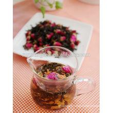 Gâteau à fleurs roses Tis noir / bourgeons de fleurs Thé