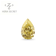 ForeverFlame  fancy yellow 3.5ct Pear Cut diamond CVD CZ color Moissanite