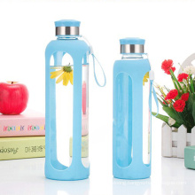 Eco-Friendly Water Glass Bottle ,Sport Silicone Bottle
