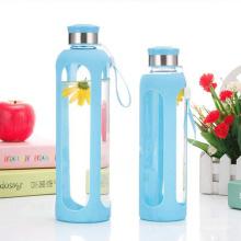Eco-Содружественные Вод Стеклянной Бутылки ,Спортивные Бутылки Силикона